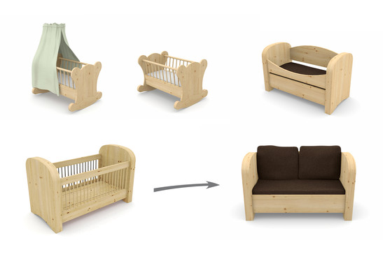 das naturkraft kinderbett sofa schuster. Black Bedroom Furniture Sets. Home Design Ideas